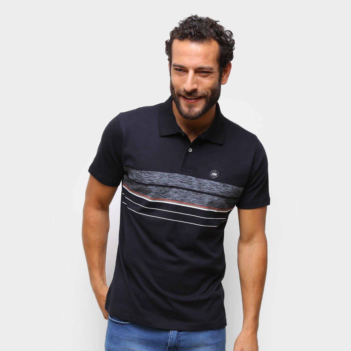 Camisa Polo HD Listrada Masculina
