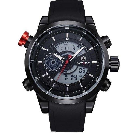 85f1fb21ebb Relógio Weide Anadigi WH-3401 - Preto - Compre Agora
