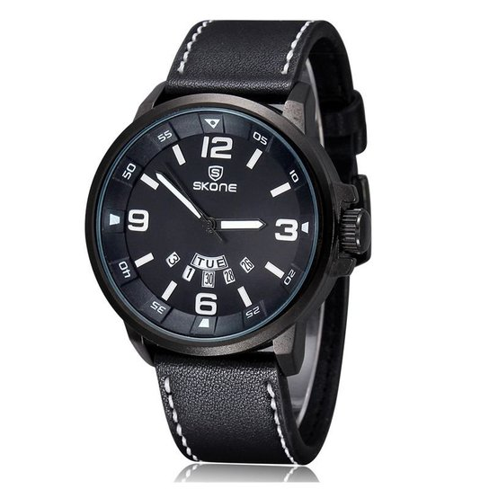 30defb20519 Relógio Skone Analógico 9345AG - Preto - Compre Agora