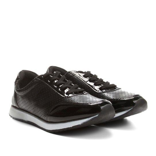 98762be22 Tênis Jogging em Verniz Via Uno com Laser Cut Feminino | Netshoes