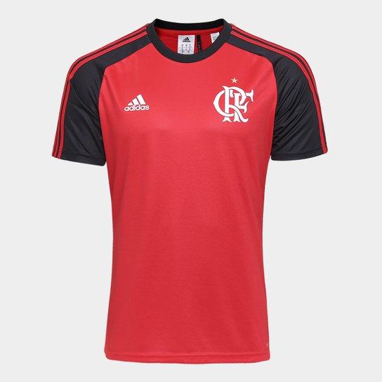 Camisa Flamengo I 17 18 Réplica Torcedor Adidas Masculina - Vermelho+Preto c0fec17036b9d