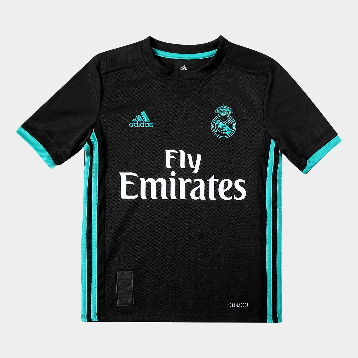 Camisa Real Madrid Infantil Away 17 18 s nº Torcedor Adidas  2f3198d883051