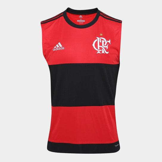 acf453f3d7 Camisa Regata Flamengo I 17/18 -Torcedor Adidas Masculina - Vermelho+Preto