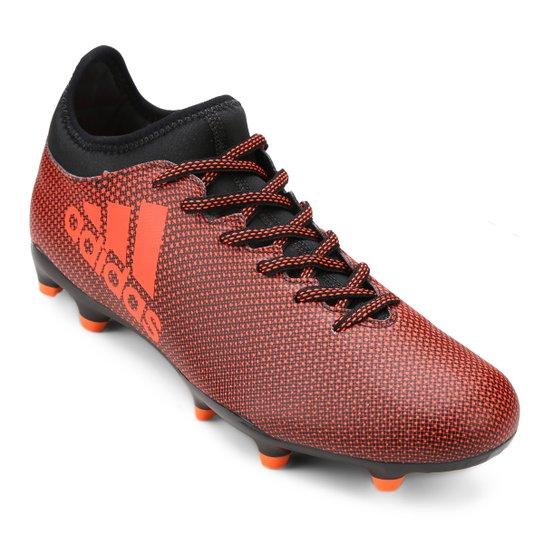 Chuteira Campo Adidas X 17.3 FG - Preto e Laranja - Compre Agora ... 185e39b1c5896