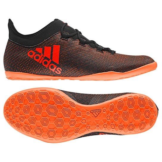 Chuteira Futsal Adidas X 17.3 IN - Preto e Laranja - Compre Agora ... ce83fe5622e6c