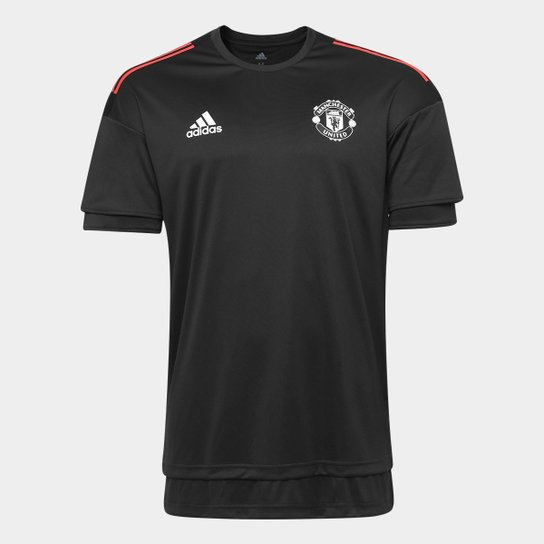 ... Camisa de Treino Manchester United UCL 17 18 Adidas Masculina - Preto  5401c10786332f ... 56bb406371ee1
