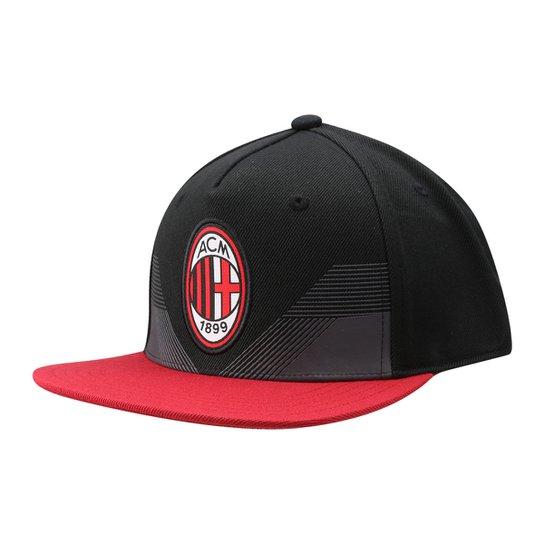 Boné Adidas Milan Aba Reta Masculino - Preto e Vermelho - Compre ... ab548033fda