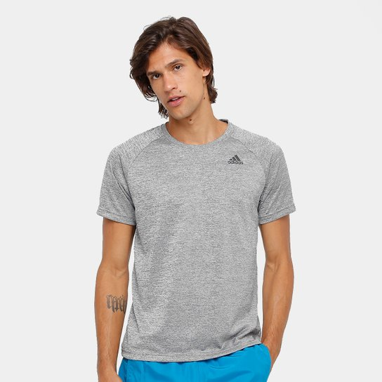 Camiseta Adidas D2M Ht Masculina - Cinza - Compre Agora  5ff67102c1402