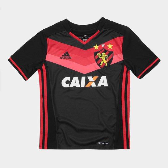 301025677a3cb Camisa Sport Recife II 17 18 - Torcedor Adidas Feminina - Preto+Vermelho