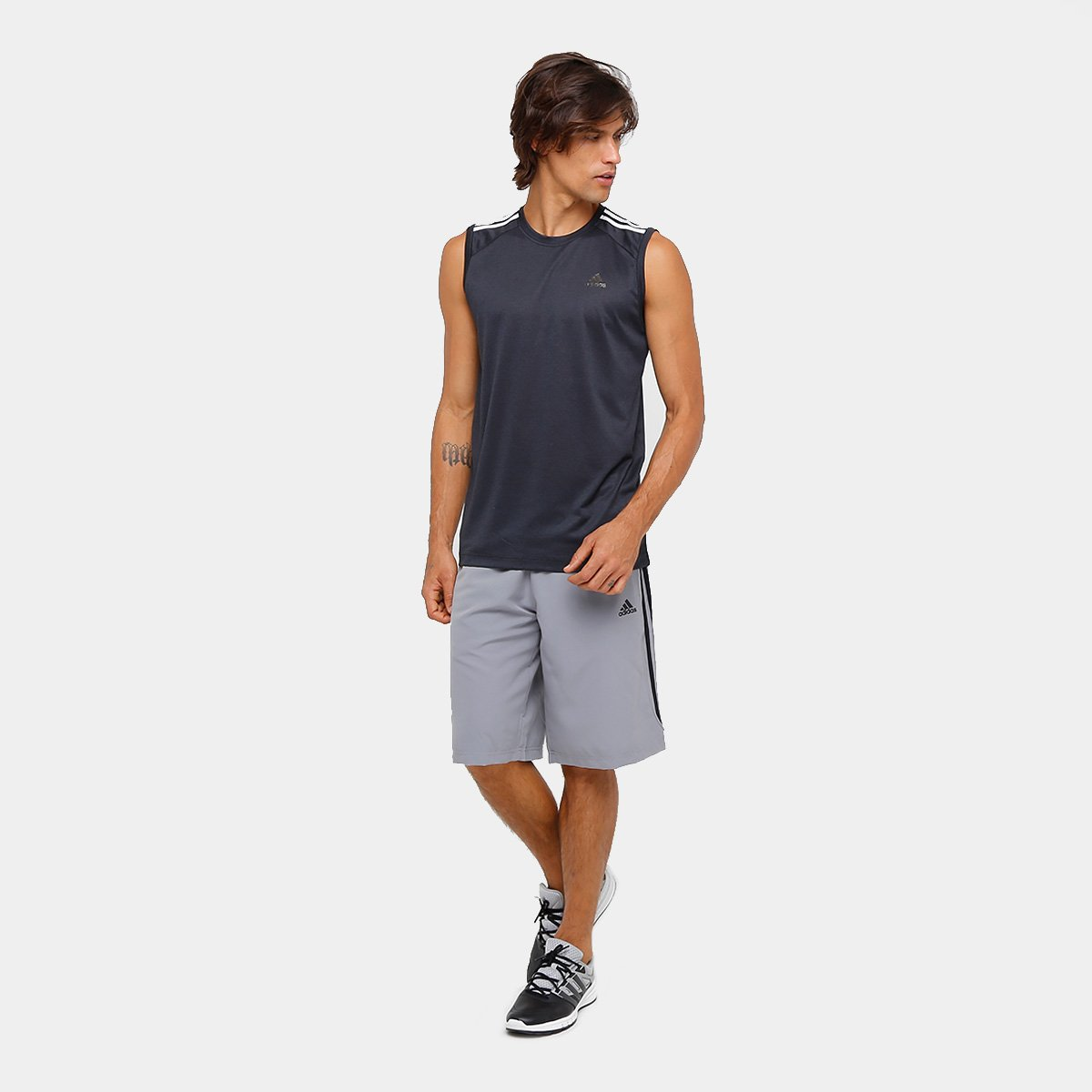 4991c50ad8 Camiseta Regata Adidas Ess 3S Egb Masculina