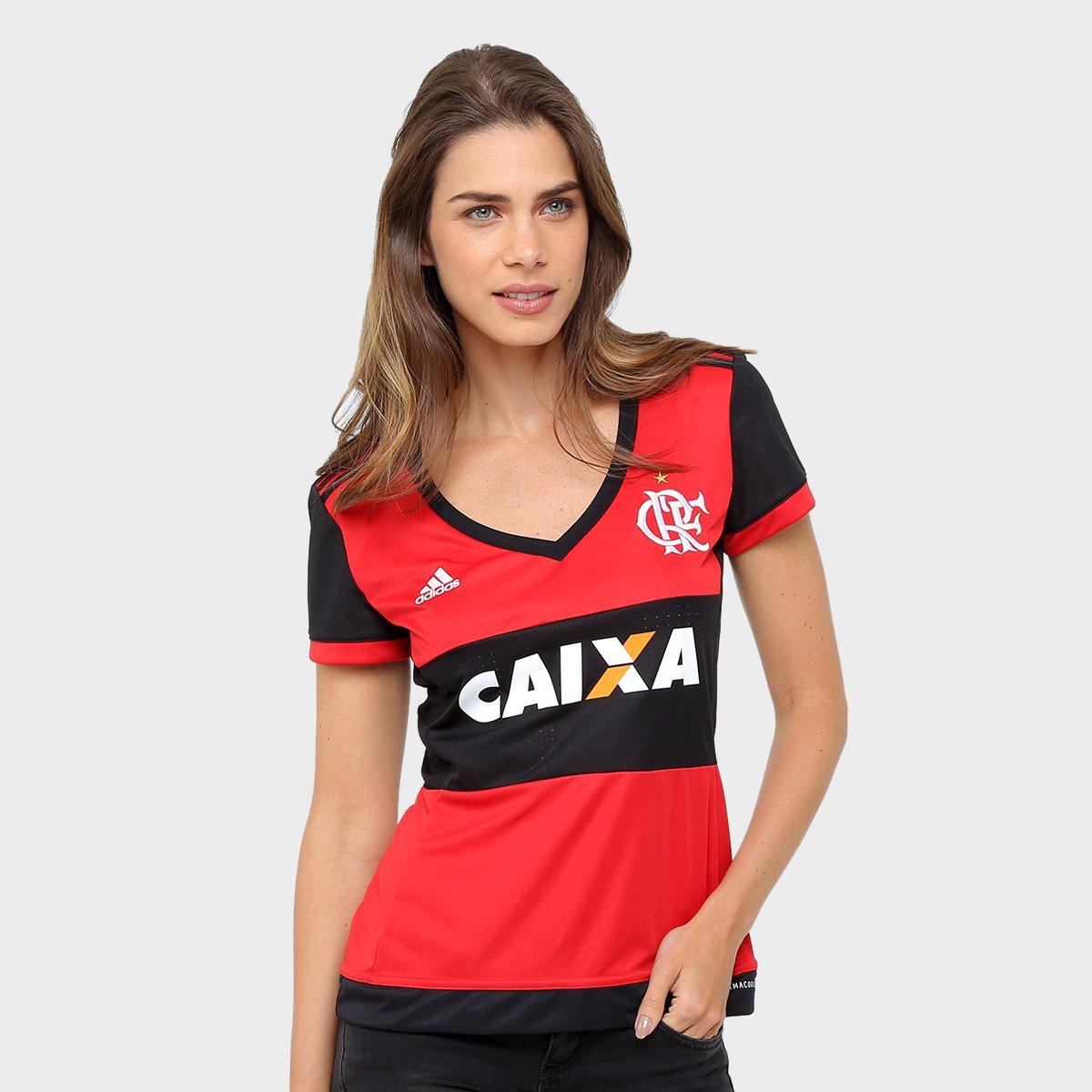 071d32b76 Camisa Flamengo I 17 18 s n° - c  Patrocinio Torcedor Adidas