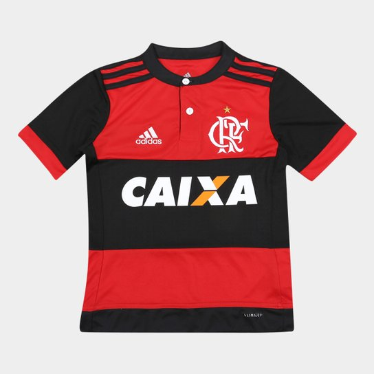 Camisa Flamengo Infantil I 17 18 s n° c  Patrocínio - Torcedor ... 1ecfb2b3d3e5e