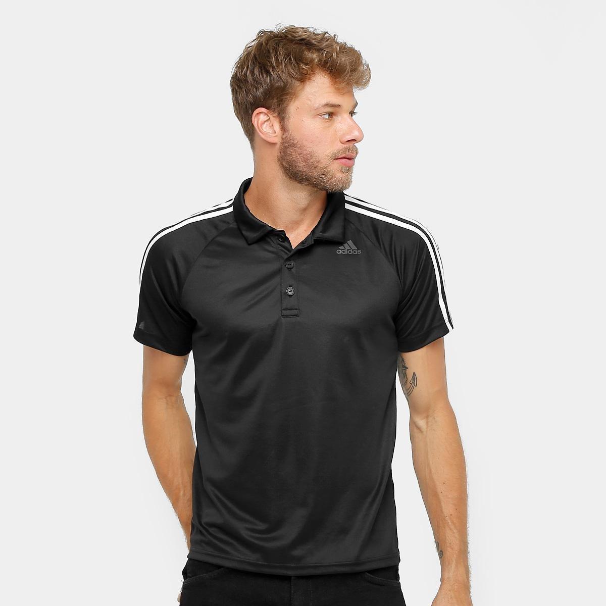 Camisa Polo Adidas D2M 3S Masculina 4936dd3ec87a9