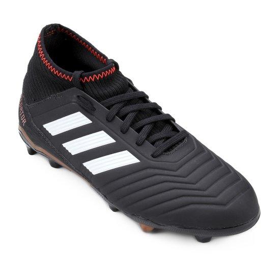 86540f3097 Chuteira Futebol Campo Infantil Adidas Predator 18 3 FG Masculina - Preto.  Loading.