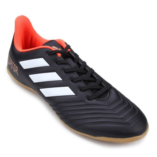 72a83d6fc9949 Chuteira Futsal Adidas Predator 18 4 IN - Preto | Netshoes
