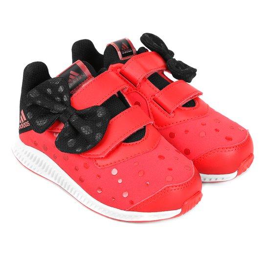 597fa9b9b6 Tênis Infantil Adidas Minnie FortaRun - Vermelho+Preto