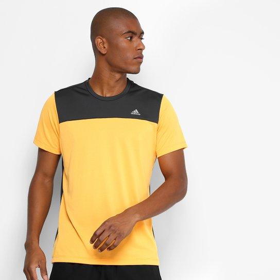 5f40b46bfe Camiseta Adidas Train Breath Masculina - Laranja e Preto - Compre ...