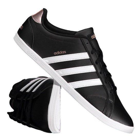 87ccba665df Tênis Adidas Vs Coneo Qt Feminino - Preto - Compre Agora