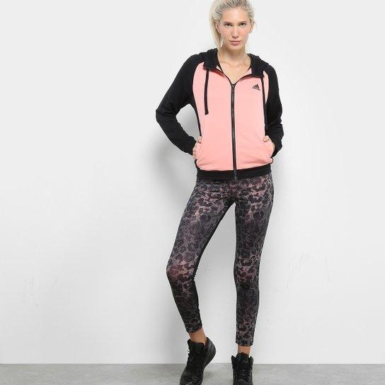 40290c5b3c Agasalho Adidas Wts Feminino - Rosa+Preto