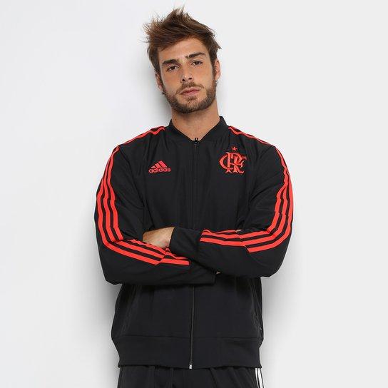 71a15ca239 Jaqueta Flamengo Viagem Adidas Masculina - Preto - Compre Agora ...