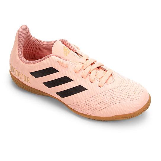 Chuteira Futsal Infantil Adidas Predator 18 4 IN - Rosa e Preto ... ac9bc8c375503