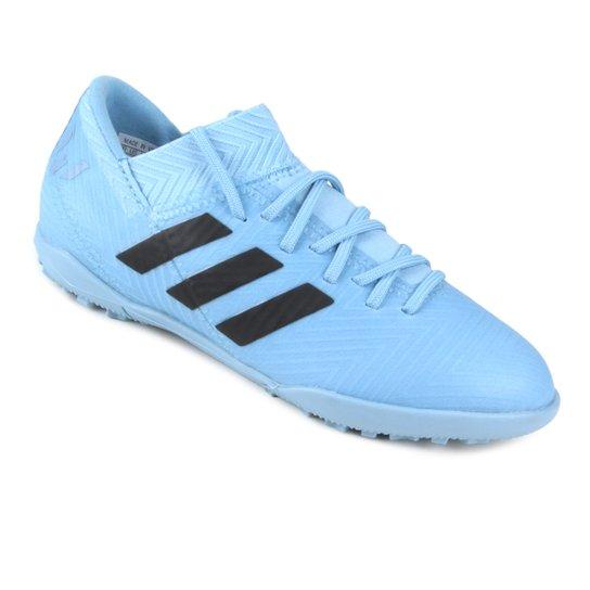 ce860443bc Chuteira Society Infantil Adidas Nemeziz Messi 18 3 TF - Azul e ...