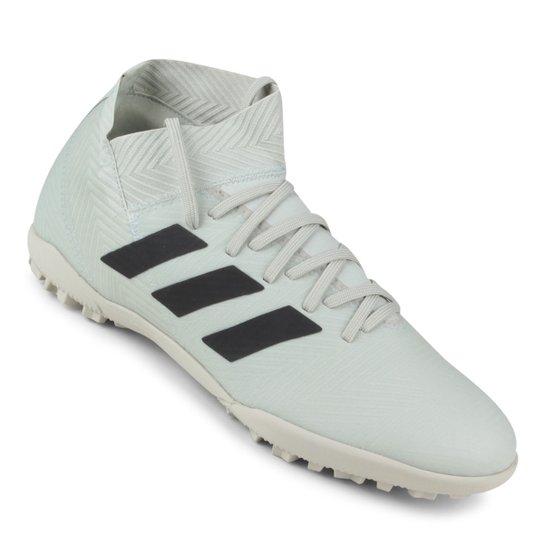 Chuteira Society Adidas Nemeziz Tango 18 3 TF - Cinza e Preto ... 86607c23f5fc4