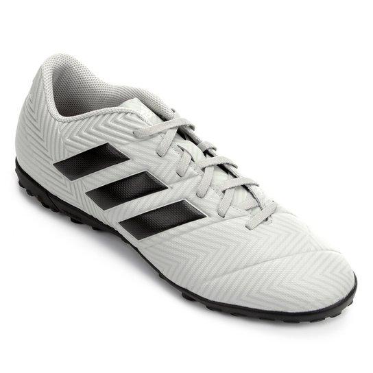 0845038e74 Chuteira Society Adidas Nemeziz Tango 18 4 TF - Cinza e Preto ...