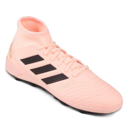 Chuteira Society Adidas Predator TAN 18 3 TF - Rosa e Preto - Compre ... 09b74a62e0d5e