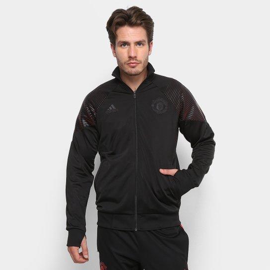 416a676c6e22a Jaqueta Manchester United Adidas Masculina - Preto - Compre Agora ...