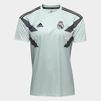 Camisa Real Madrid Pré-Jogo - Torcedor Adidas Masculina c6ec1ed339f19