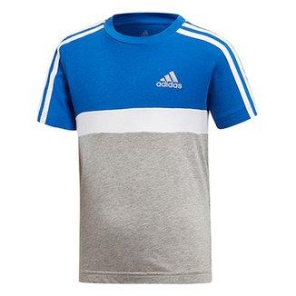 Camiseta Infantil Adidas Colorblock Lb Cot Cb Masculina 55aad3d648b4d