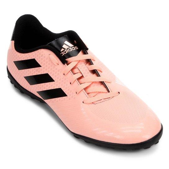 Chuteira Society Adidas Artilheira III TF - Salmão e Preto - Compre ... 07d52245c2376