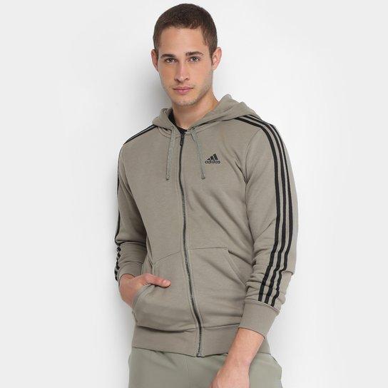 f1da8c257d5fc Jaqueta de Moletom Adidas Ess 3S Fz Ft Masculina - Compre Agora ...