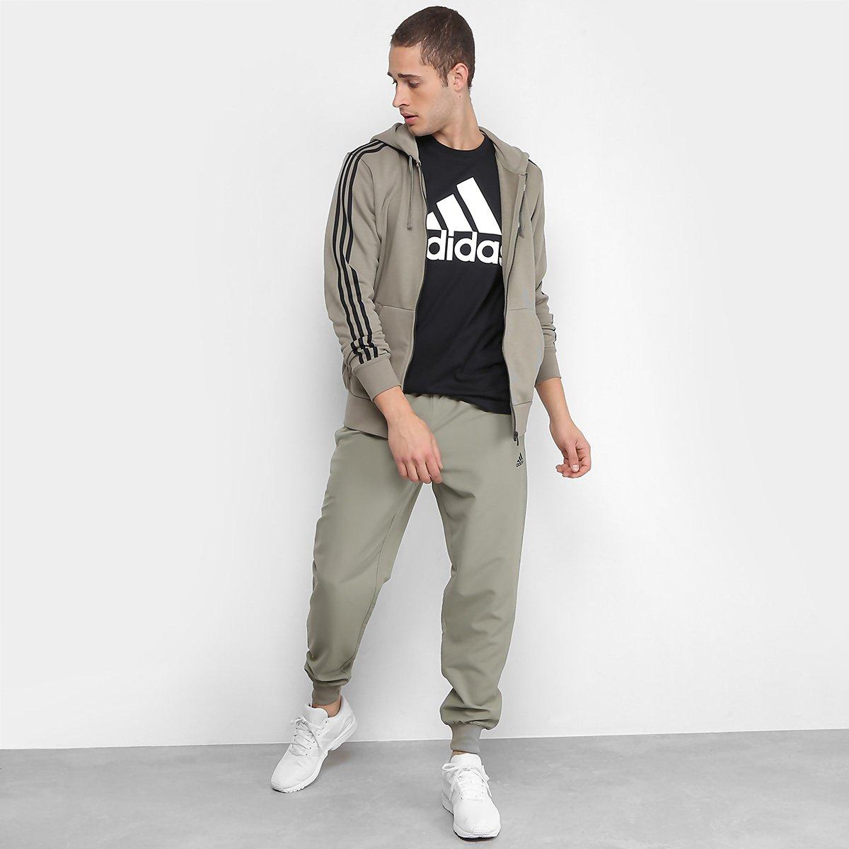 5d969e938e2 Jaqueta de Moletom Adidas Ess 3S Fz Ft Masculina