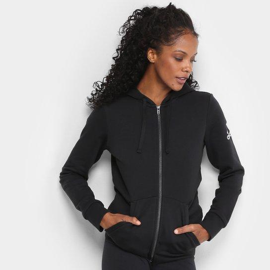 31c89f2e4 Jaqueta de Moletom Adidas Ess Solid Fz Hd Feminina | Netshoes