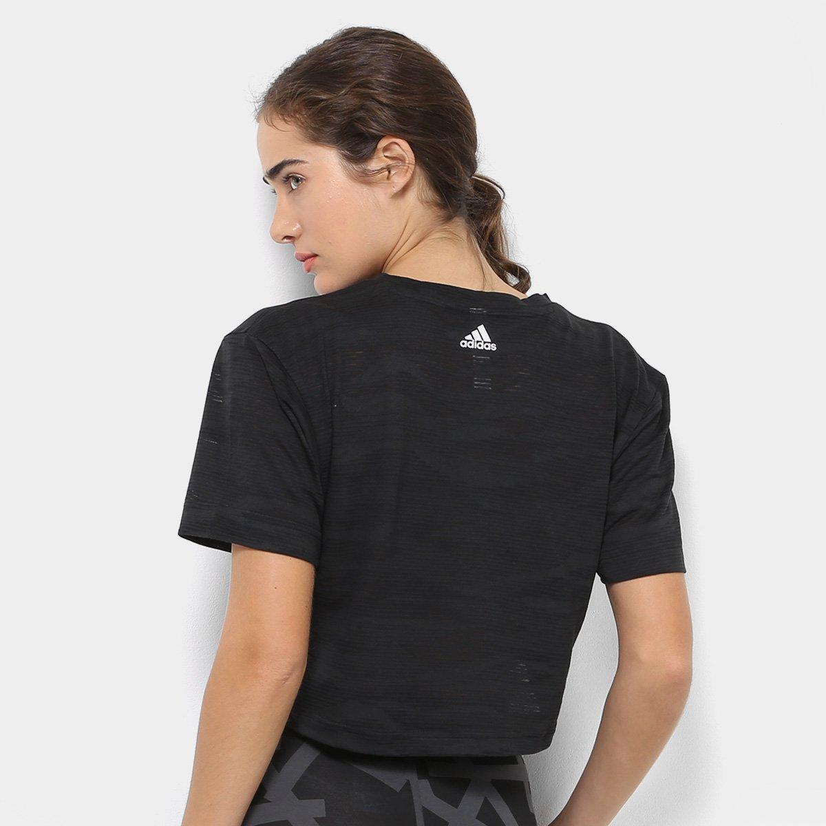 12ec9dc1698 Camiseta Cropped Adidas Aeroknit Crop Feminina