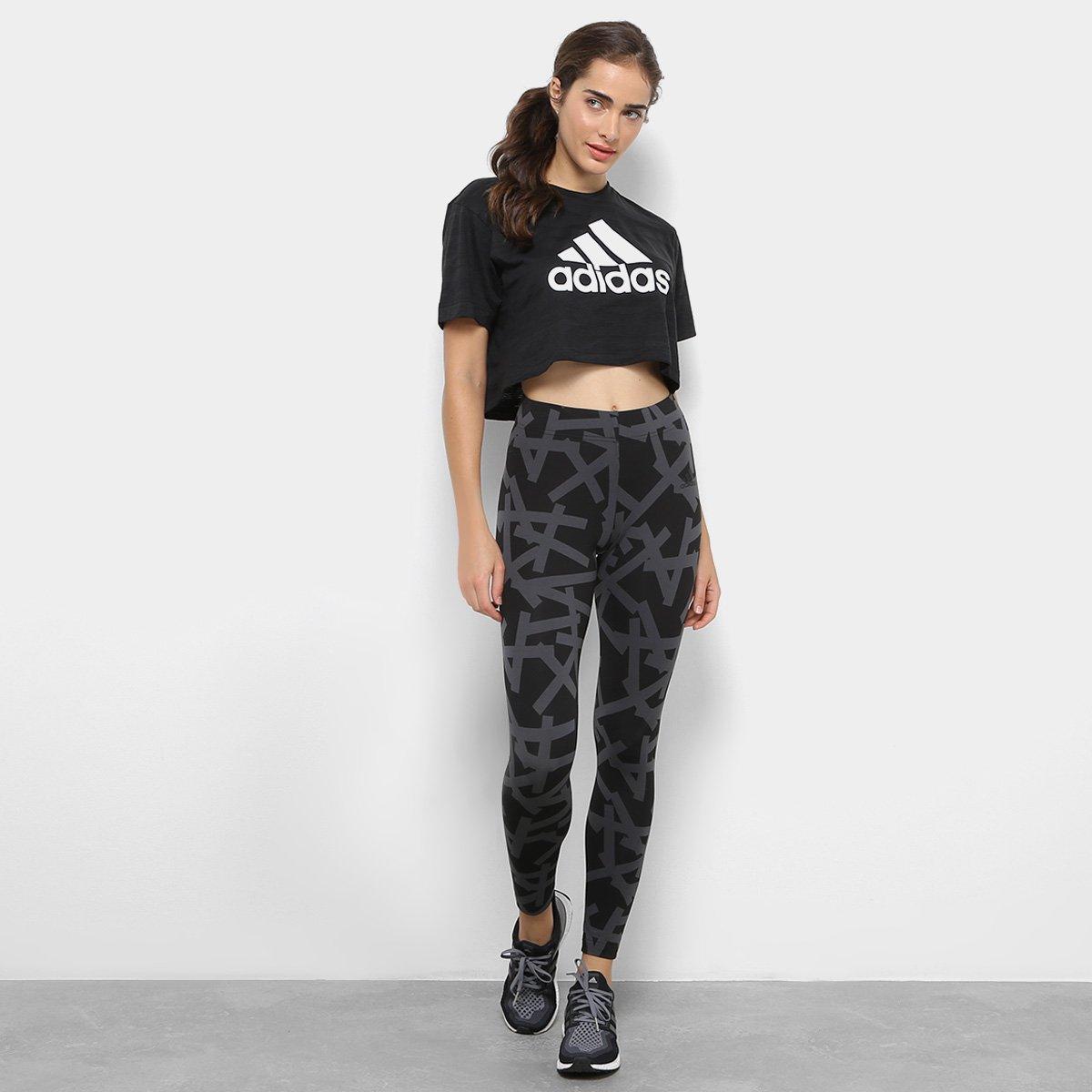 05790129bde Camiseta Cropped Adidas Aeroknit Crop Feminina