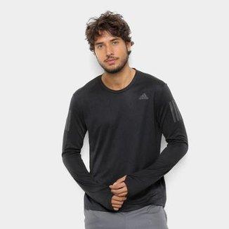 Camiseta Adidas Response Manga Longa Masculino 99d919e4c2ed7