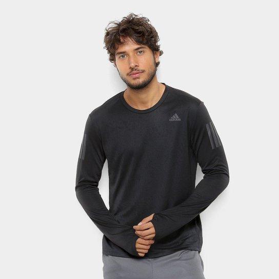 87147db71b5 Camiseta Adidas Response Manga Longa Masculino - Preto - Compre ...