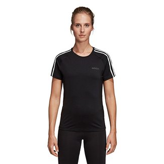 f34344c641c Camiseta Adidas Design 2 Move 3 Stripes Feminina