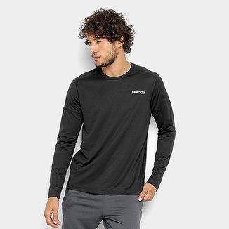 Camiseta Adidas Design 2 Move Manga Longa Masculina 55c70df4dd11a