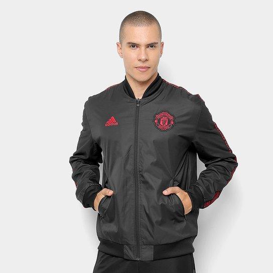 c3f57c4c7 Jaqueta Manchester United Adidas Hino Masculina - Preto - Compre ...