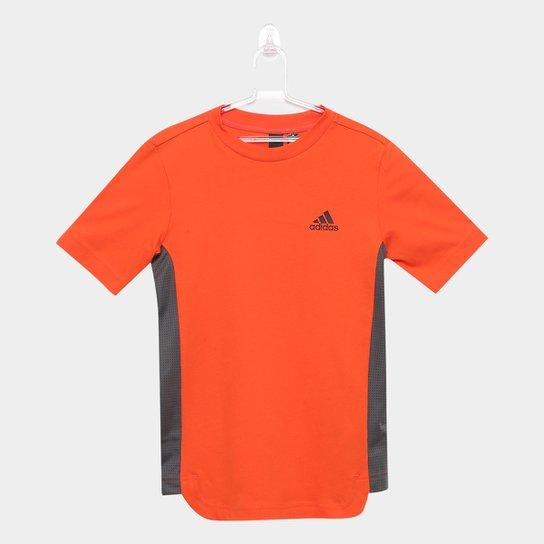ca4648020 Camiseta Infantil Adidas Bicolor - Laranja e Cinza - Compre Agora ...