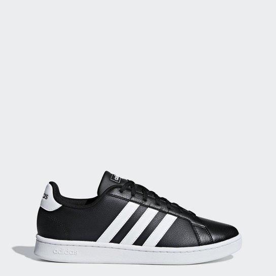 ad9a0188 Tênis Adidas Grand Court Masculino - Preto | Netshoes