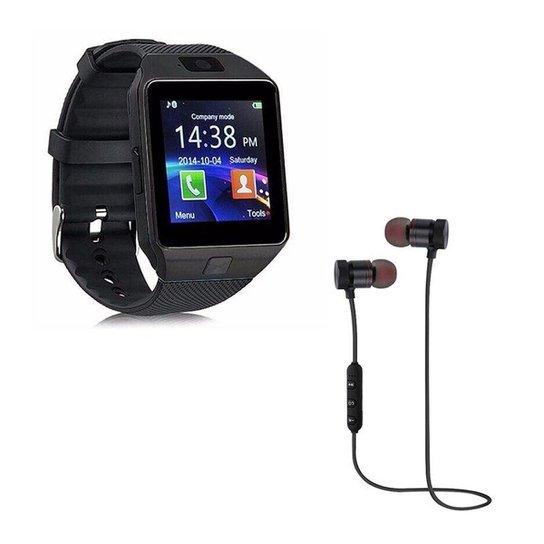 11d20469a6a Kit DAGG Relógio Smartwatch Touch e Fone XT-6 Bluetooth Sport Sem Fio -  Preto