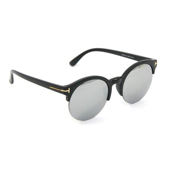 55153ee52 Óculos Redondo Preto com Lente Espelhada - Preto | Netshoes