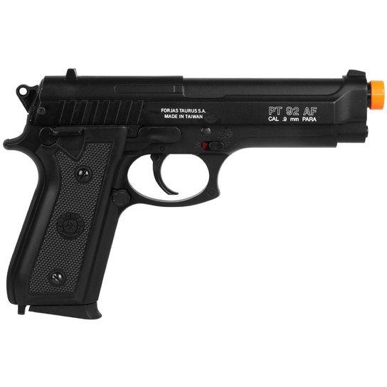 6efaeb8e24 Pistola Airsoft Taurus Spring PT92 Slide Metal - Preto - Compre ...
