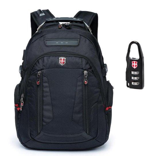 591b8f5a5 Mochila Notebook Encaixe Fone Swissport - Preto | Netshoes