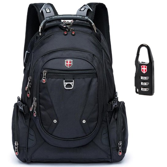 24314c79e Mochila Notebook Audiopocket Swissport - Preto | Netshoes